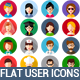 Flat User Icons Set