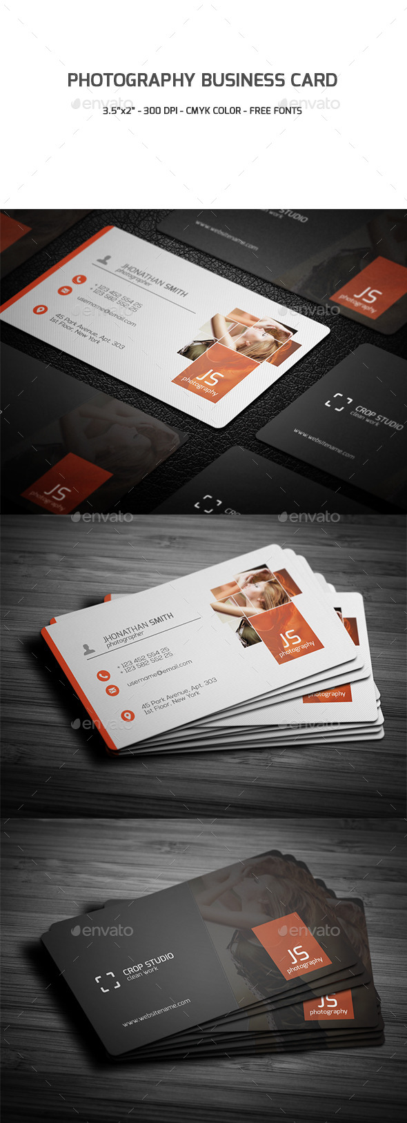 GraphicRiver Photography Business Card 9534211