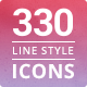 Modern Line Style Icon Set - GraphicRiver Item for Sale