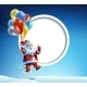 Santa Claus Flies on a Balloon - GraphicRiver Item for Sale