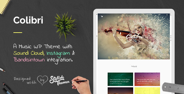 ThemeForest Colibri WP Theme for Busy Musicians 9535099