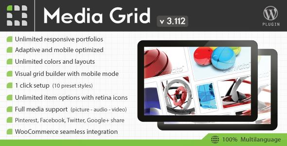 Media Grid - Wordpress Responsive Portfolio - CodeCanyon Item for Sale