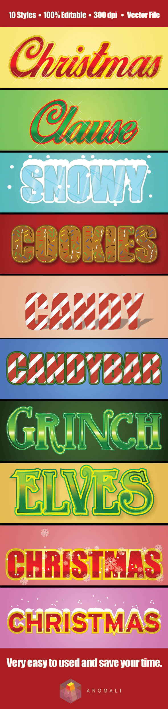 GraphicRiver Christmas Text Graphic Style Vol.01 9535221