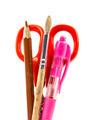 Office utensils on white background - PhotoDune Item for Sale