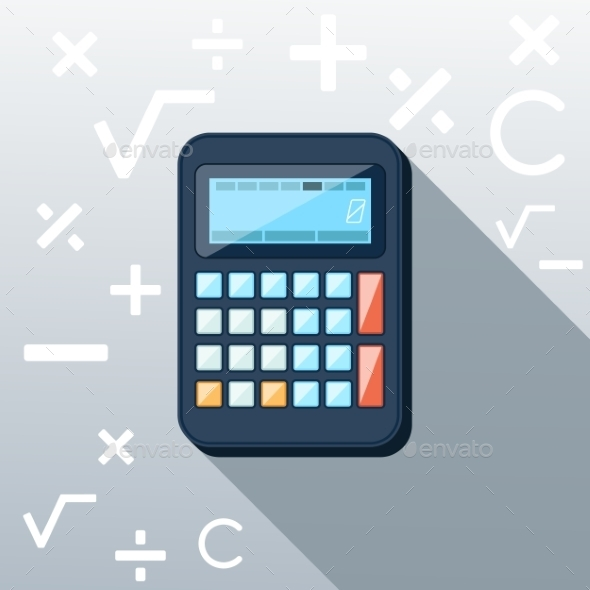 GraphicRiver Calculator Flat Concept Icon 9535257