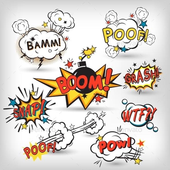 GraphicRiver Comic Boom Set 9535267