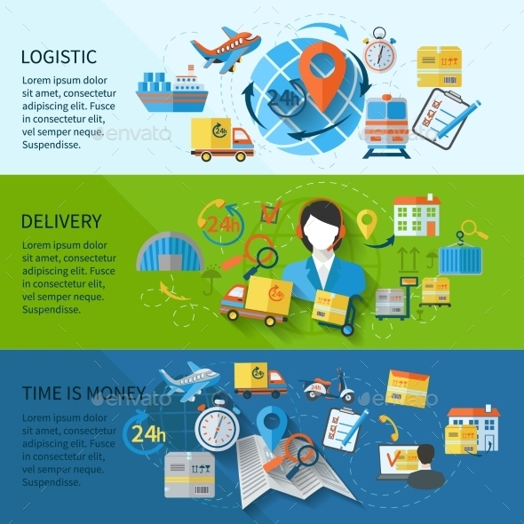 GraphicRiver Logistic Banner Set 9535276