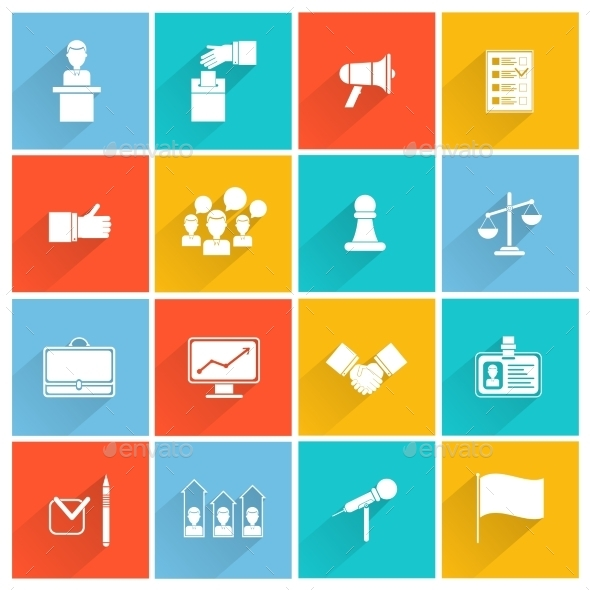 GraphicRiver Elections Icons Set 9535283