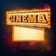 Retro Cinema Sign - GraphicRiver Item for Sale