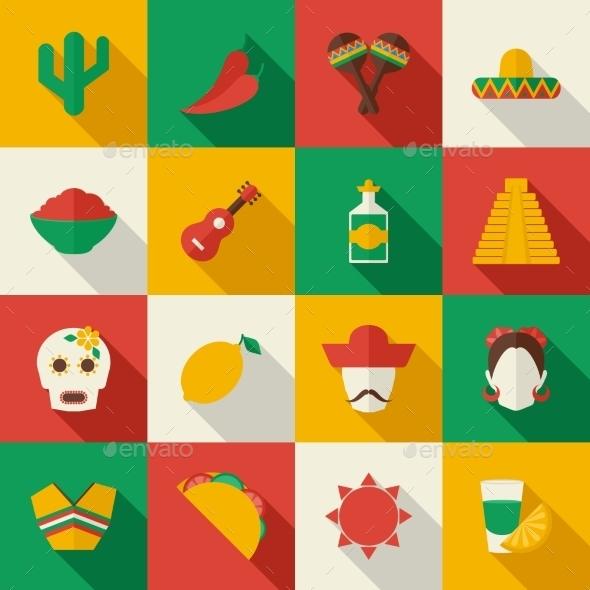 GraphicRiver Mexico Icons 9535357