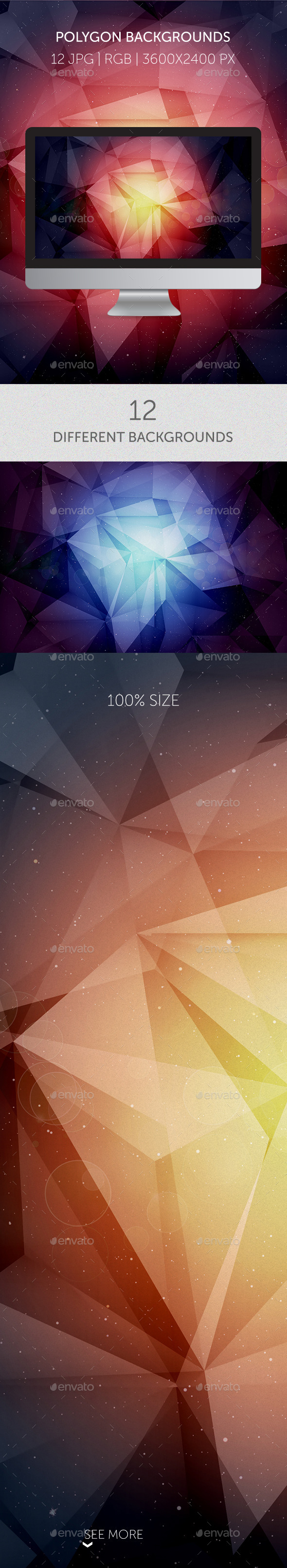 GraphicRiver 12 Amazing Cosmic Polygon Backgrounds 9535376