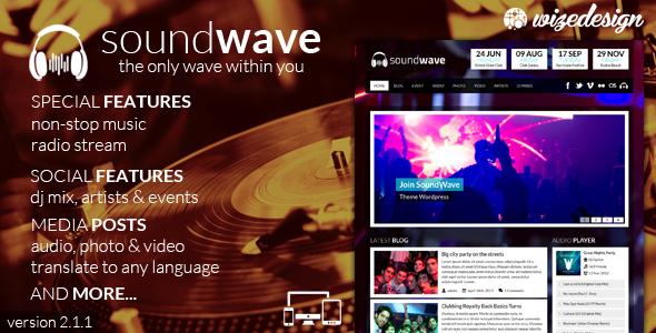 SoundWave The Music Vibe WordPress Theme