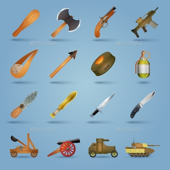GraphicRiver Weapon Icons Set 9535443