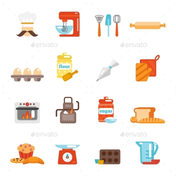 GraphicRiver Bakery Icon Flat 9535449