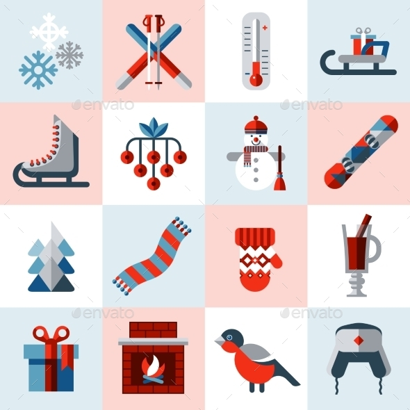 GraphicRiver Winter Icons Set 9535494