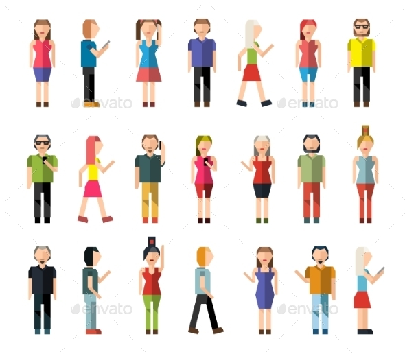 GraphicRiver People Pixel Avatars 9535540