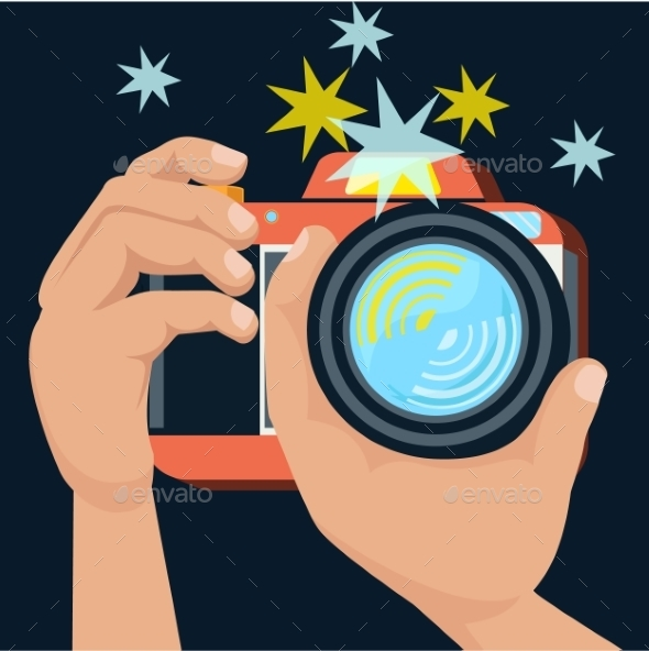 GraphicRiver Hands Holding Camera 9535548