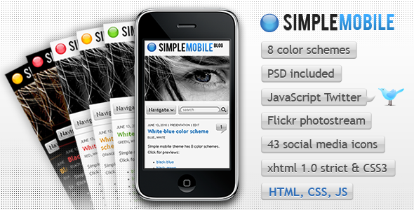 Simple Mobile template - ThemeForest Item for Sale