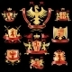 Heraldic Labels Gold and Red  - GraphicRiver Item for Sale