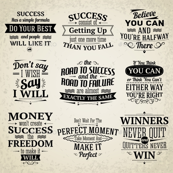 GraphicRiver Success Quotes Set 9536064