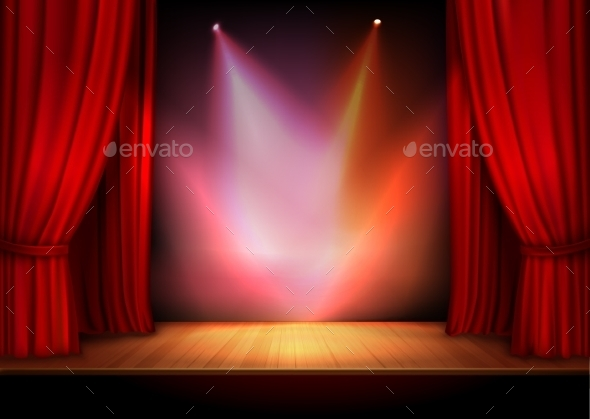 GraphicRiver Curtain with Lights 9536109
