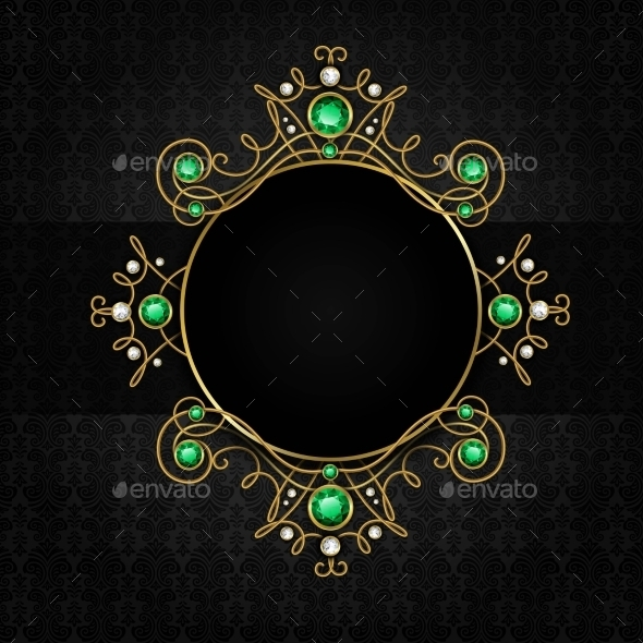 GraphicRiver Jewellery Black Frame 9536191