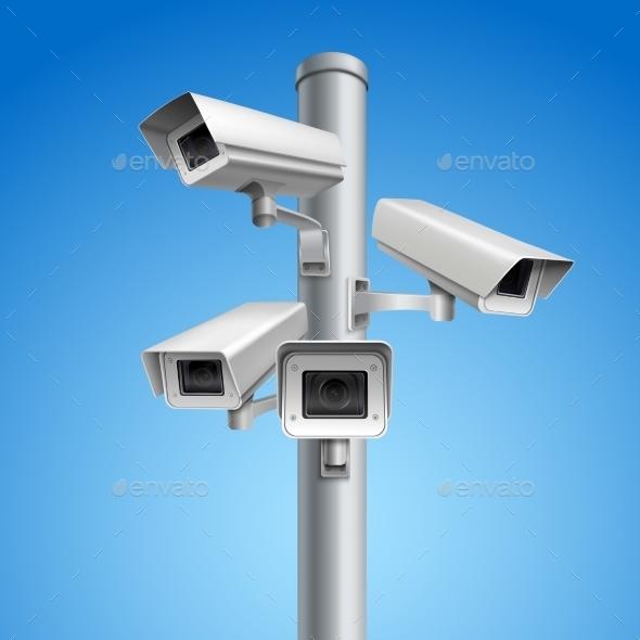 GraphicRiver Surveillance Camera Pillar 9536193