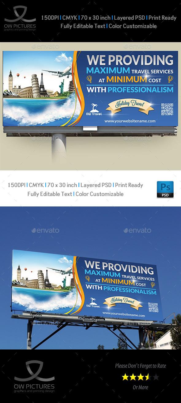 GraphicRiver Travel Company Billboard Template 9536206