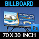Travel Company Billboard Template - GraphicRiver Item for Sale