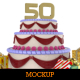 Anniversary Cake Mockup - GraphicRiver Item for Sale