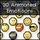 30 Animated Emoticons - GraphicRiver Item for Sale