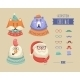 Christmas Hipster Animals. Vector Illustration - GraphicRiver Item for Sale