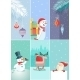 Set of Christmas and New Year Greeting Cards - GraphicRiver Item for Sale