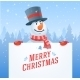 Snowman with Banner Christmas Vector Background - GraphicRiver Item for Sale