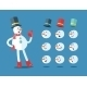 Funny Snowman. Cartoon Vector Set - GraphicRiver Item for Sale