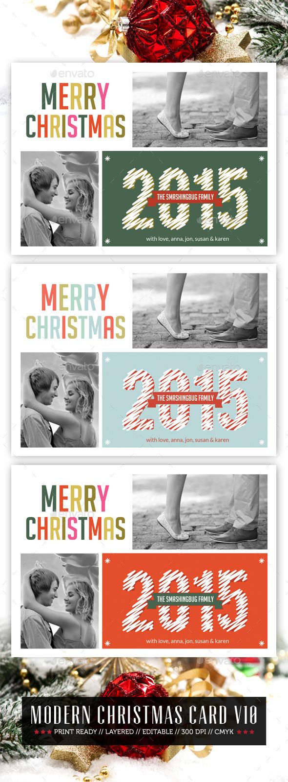 GraphicRiver Modern Christmas Card V10 9537235