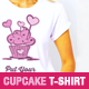7 Cupcake Illustration T-Shirt Templates - GraphicRiver Item for Sale