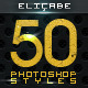 [BUNDLE] 27 Glossy Professional Photoshop Styles - 8