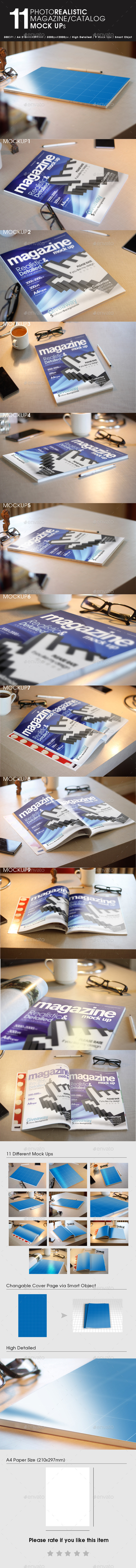 GraphicRiver 11 Photorealistic Magazine Mock Up 9456314