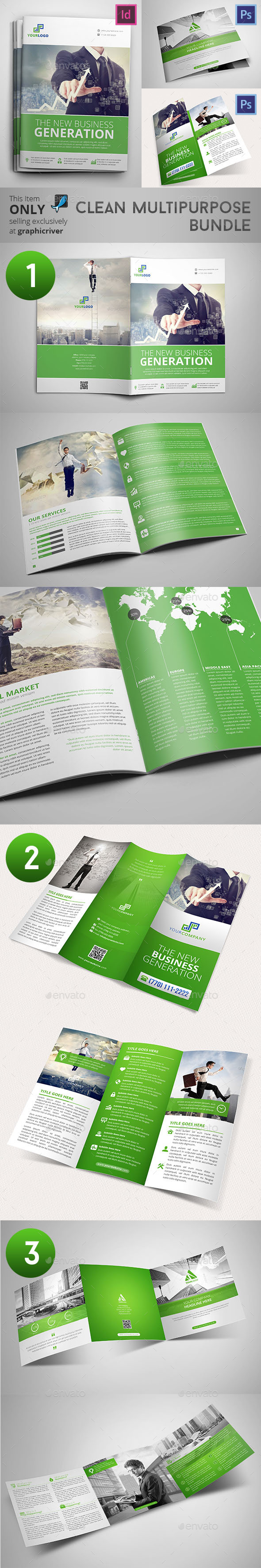 GraphicRiver Clean Multipurpose Bundle 9537366