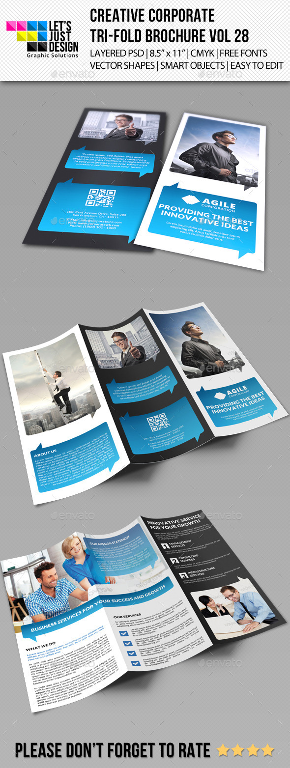 GraphicRiver Creative Corporate Tri-Fold Brochure Vol 28 9537528