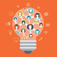 Social Media Light Bulb Concept - GraphicRiver Item for Sale