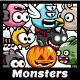 8 Flying Monster Sprite Sheets - GraphicRiver Item for Sale