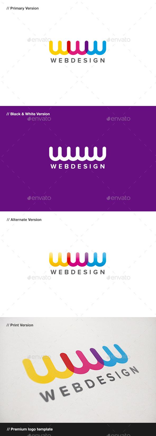 Web Design - Letter W Logo - Letters Logo Templates