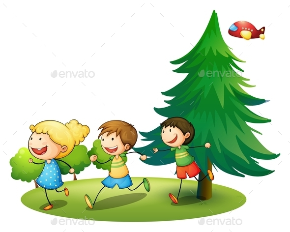 GraphicRiver Children Running 9537707