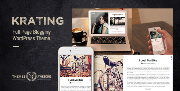 Krating - Full Page Blogging Themes