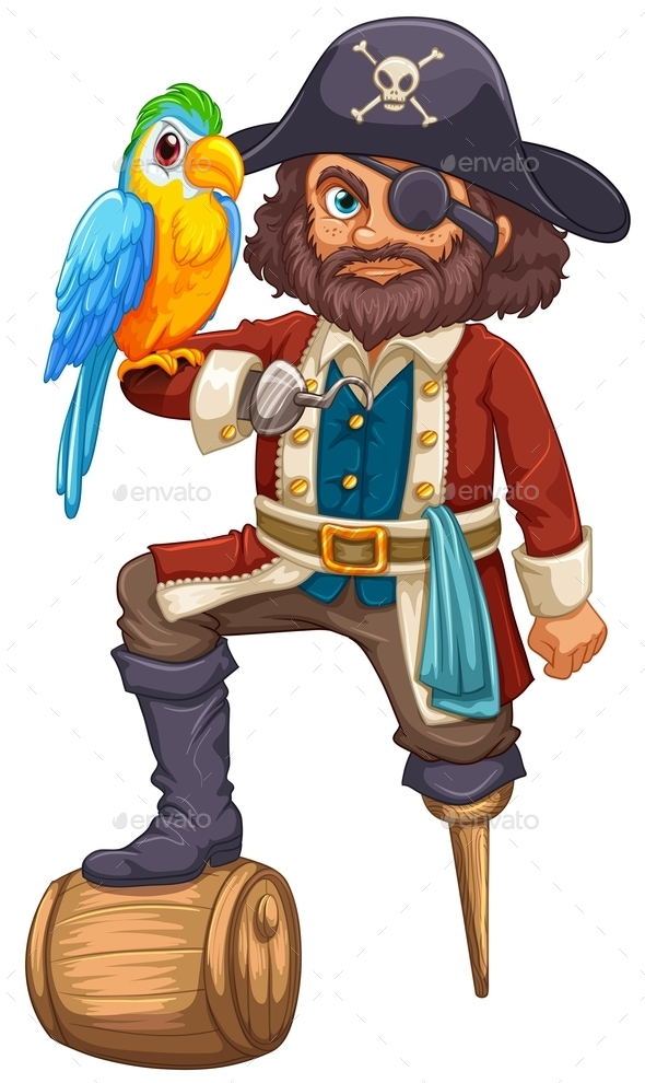 GraphicRiver Pirate and Parrot 9538521