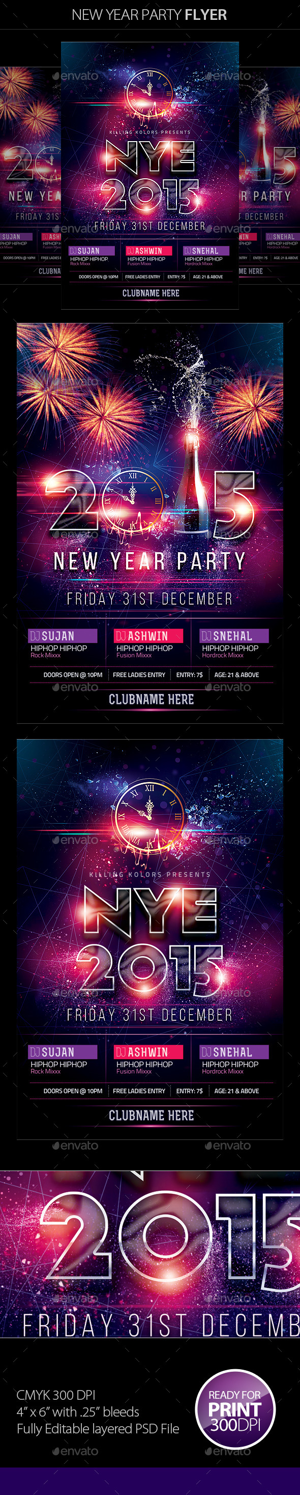 GraphicRiver New Year Party Flyer 9538731