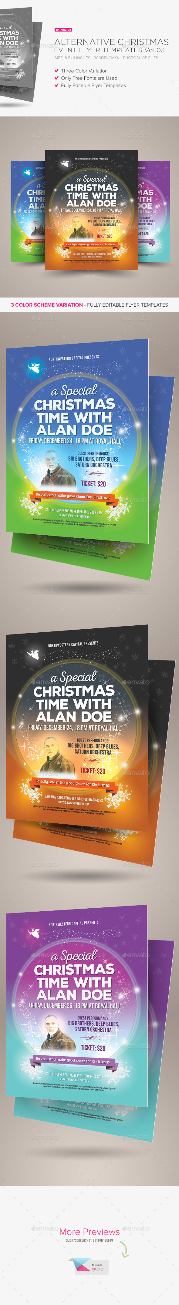 GraphicRiver Alternative Christmas Event Flyer Vol.03 9538862