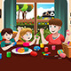 Kids Painting Easter Eggs - GraphicRiver Item for Sale